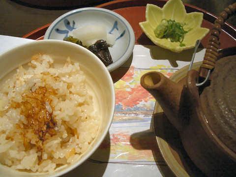 鯛の釜炊き御飯@美濃吉