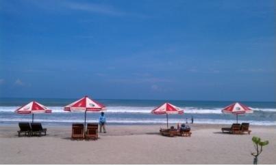 クタビーチ・朝の雰囲気・