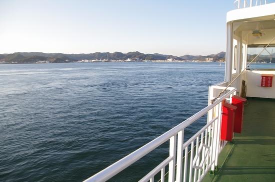 直島 船で岡山へ