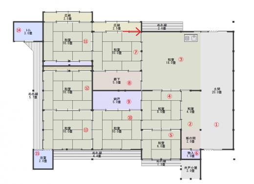 平面図19(現状・番号付き)